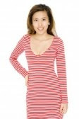 horizontal striped dress