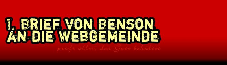 Benson's Blog