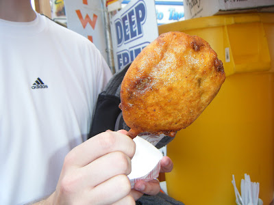 Deep Fried Cheeseburger On-A-Stick