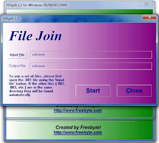 Menggabungkan File dengan HJ-Split