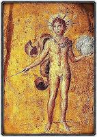 Figura del dios Helios en Pompeya