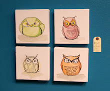 Owls, Set of 4