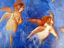 el azul en los frescos de Giotto