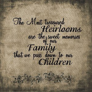 FAMILY HEIRLOOM WORDART