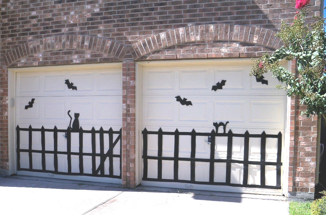 Diy halloween garage door decorations - Making Halloween Garage Silhouettes