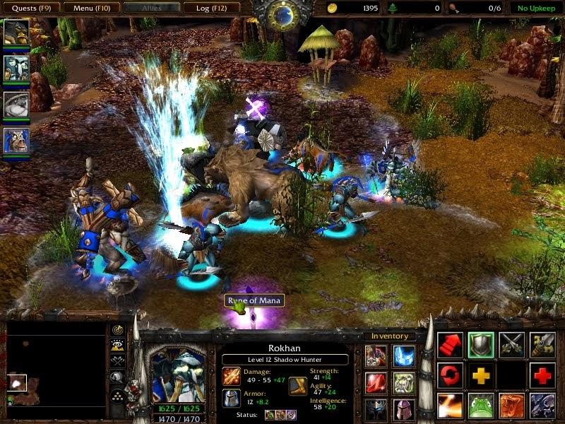 especially Warcraft 3 - Blizzard Entertainment:Warcraft III