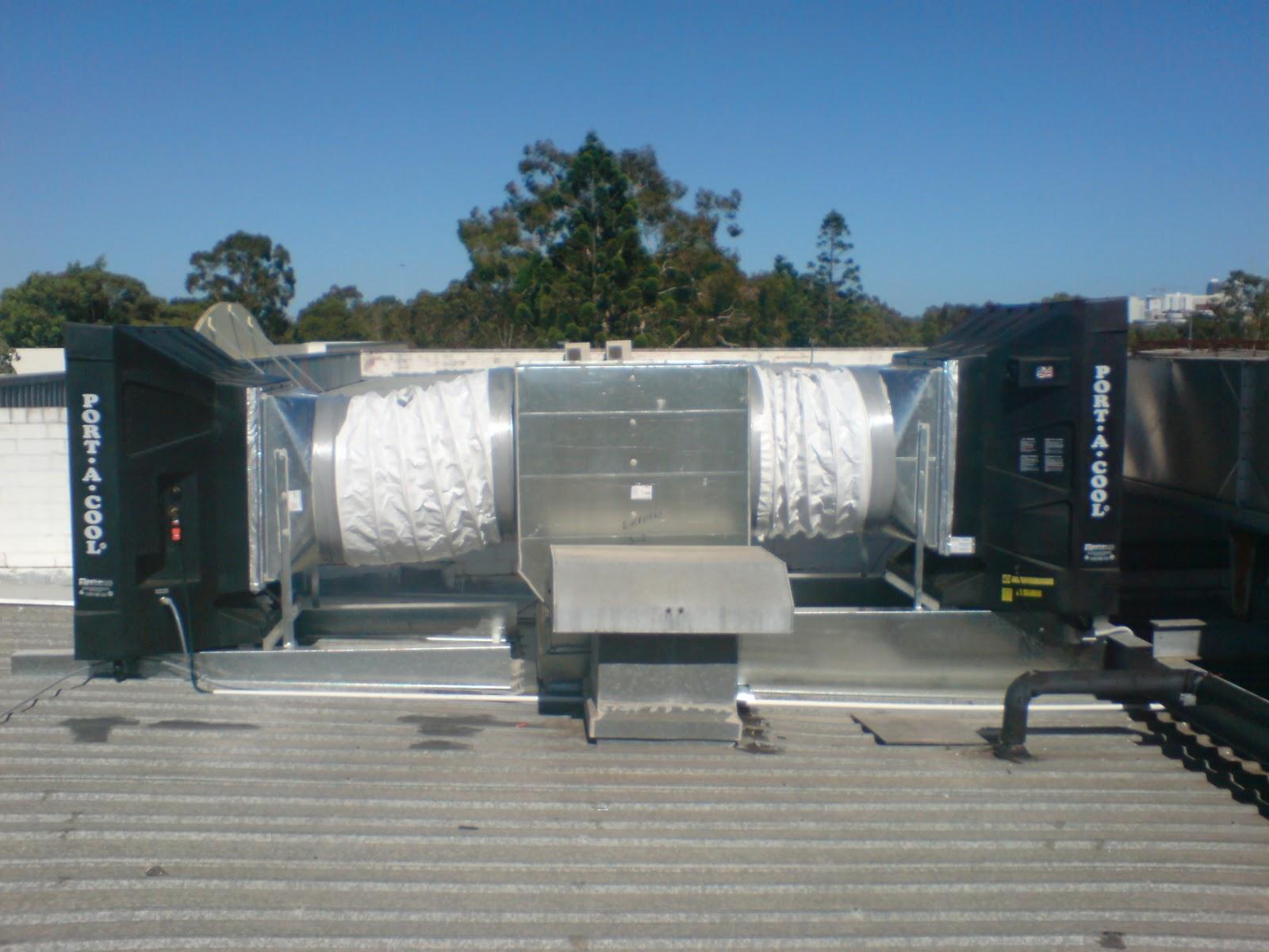 Evaporative Cooling Roof : Portool portable evaporative cooling installation