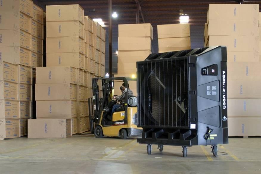 Industrial Evaporative Cooling Systems : Port a cool quot evaporative cooler april