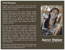 Aaryn Walker Artist Bio
