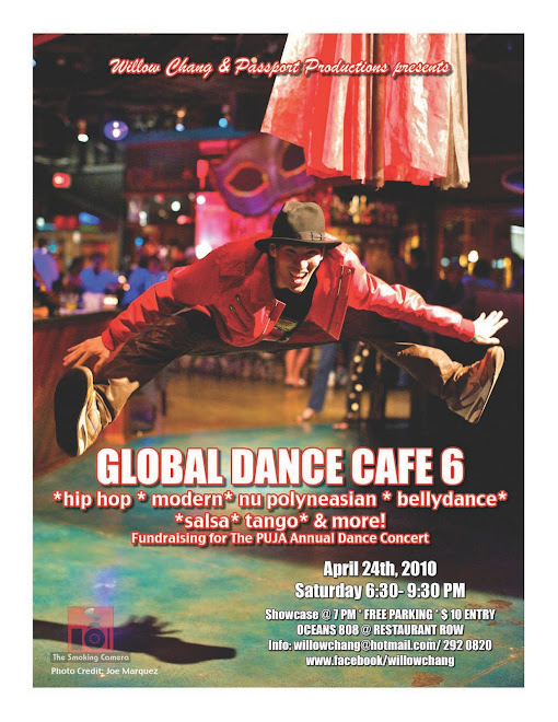 Global Dance Cafe 6 This Saturday, April 24th- Fundraiser for PUJA!