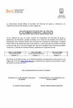 COMUNICADO DE CAMBIOS PERSONAL DE ASISTENCIA Y SERVICIOS A LA EDUCACION