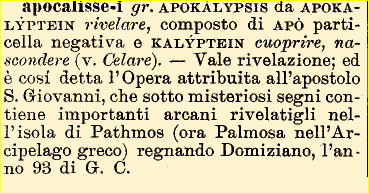 Etimologia apocalisse