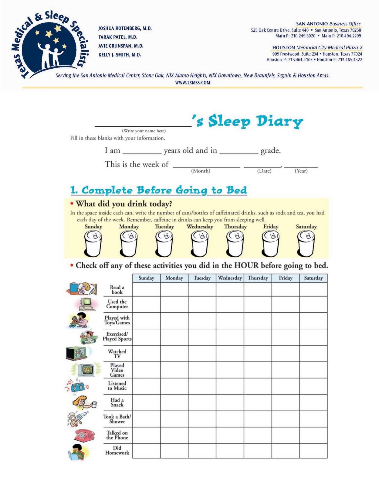 News pediatric neurology epilepsy sleep medicine brain for Seizure diary template