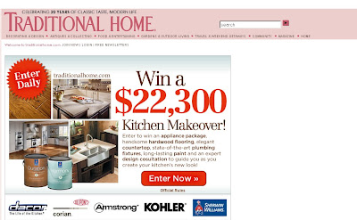 Traditional Home Kitchen Sweepstakes 2010