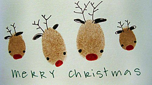 Fingerprint Christmas Childrens Craft