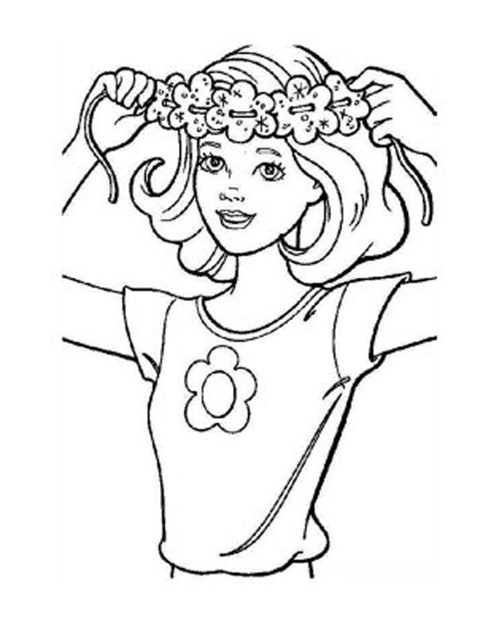 flower coloring pages for girls. crafts and coloring pages