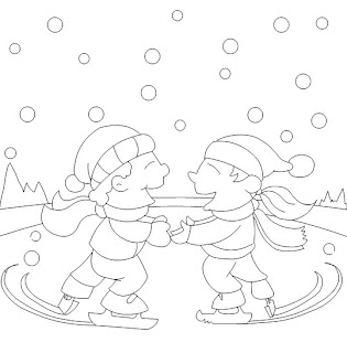 kids coloring pages, winter coloring pages
