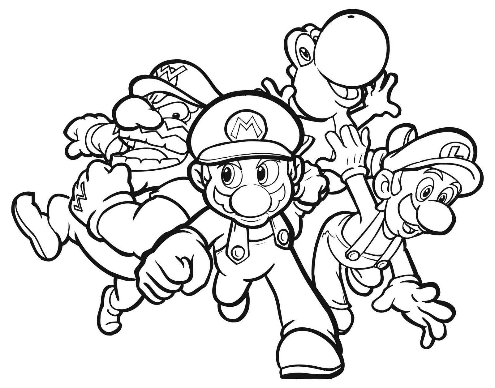 lago mario coloring pages - photo#12