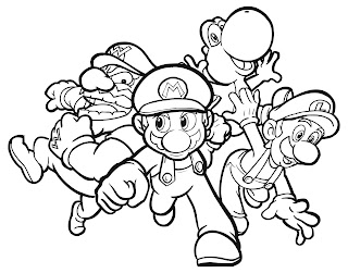 kids coloring pages, mario coloring pages