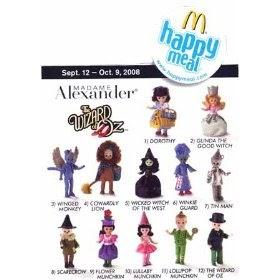 McDonalds 2008 Madame Alexander Wizard Of Oz Flower Munchkin #9 Happy Meal Toy