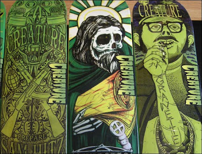 Creature Skateboards Spring 2010 Skate Decks