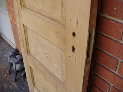 "24"" Craftsman heart pine door"