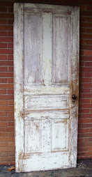 farm door with hardware