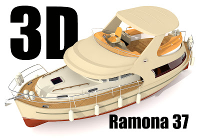 jacht Ramona 37: galeria 3D anaglif cross view red cyan obrazy 3d okulary3d