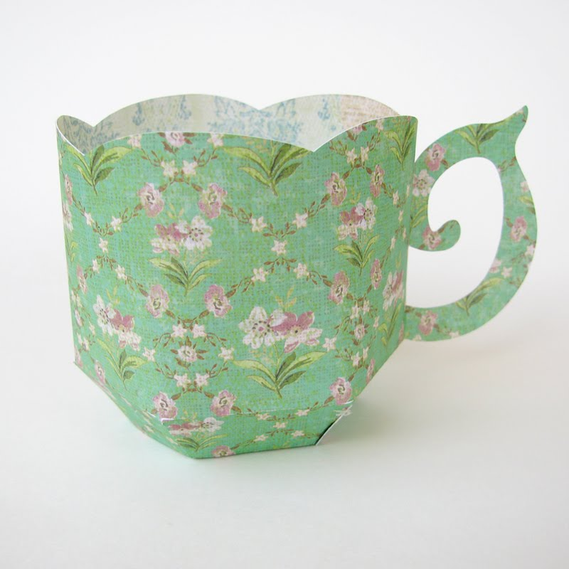 cactus and olive tea cup
