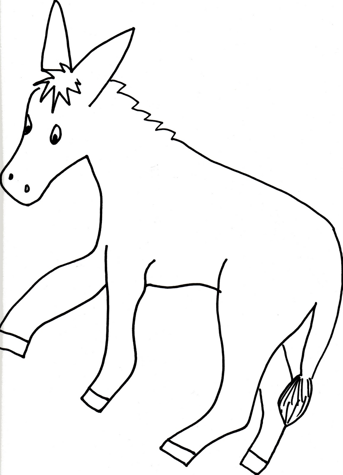 Free The Tail On The Donkey Coloring Pages