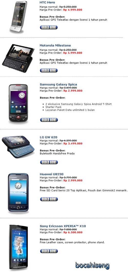 harga hanphone berbasis android indosat