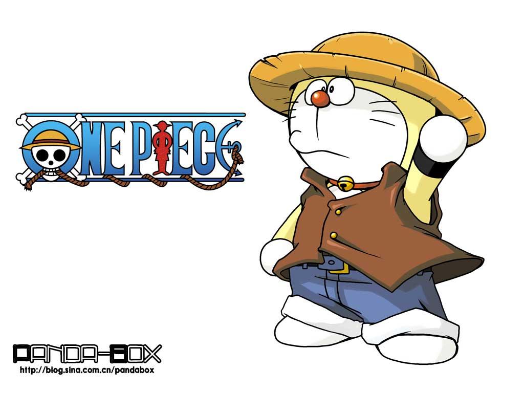 videos imágenes graciosas de one piece - Página 5 Doraemon-one-piece-style