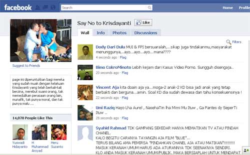 Grup Say No to Krisdayanti di Facebook