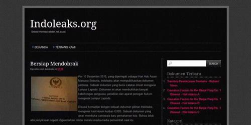 indoleaks situs wikileaks indonesia