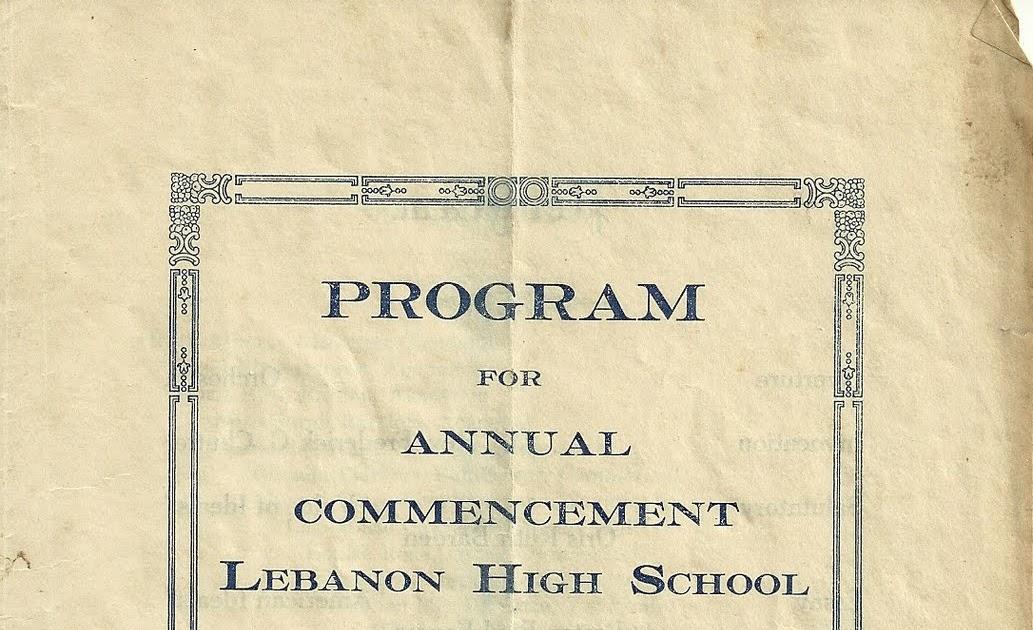 heirlooms reunited  1922 commencement program  lebanon