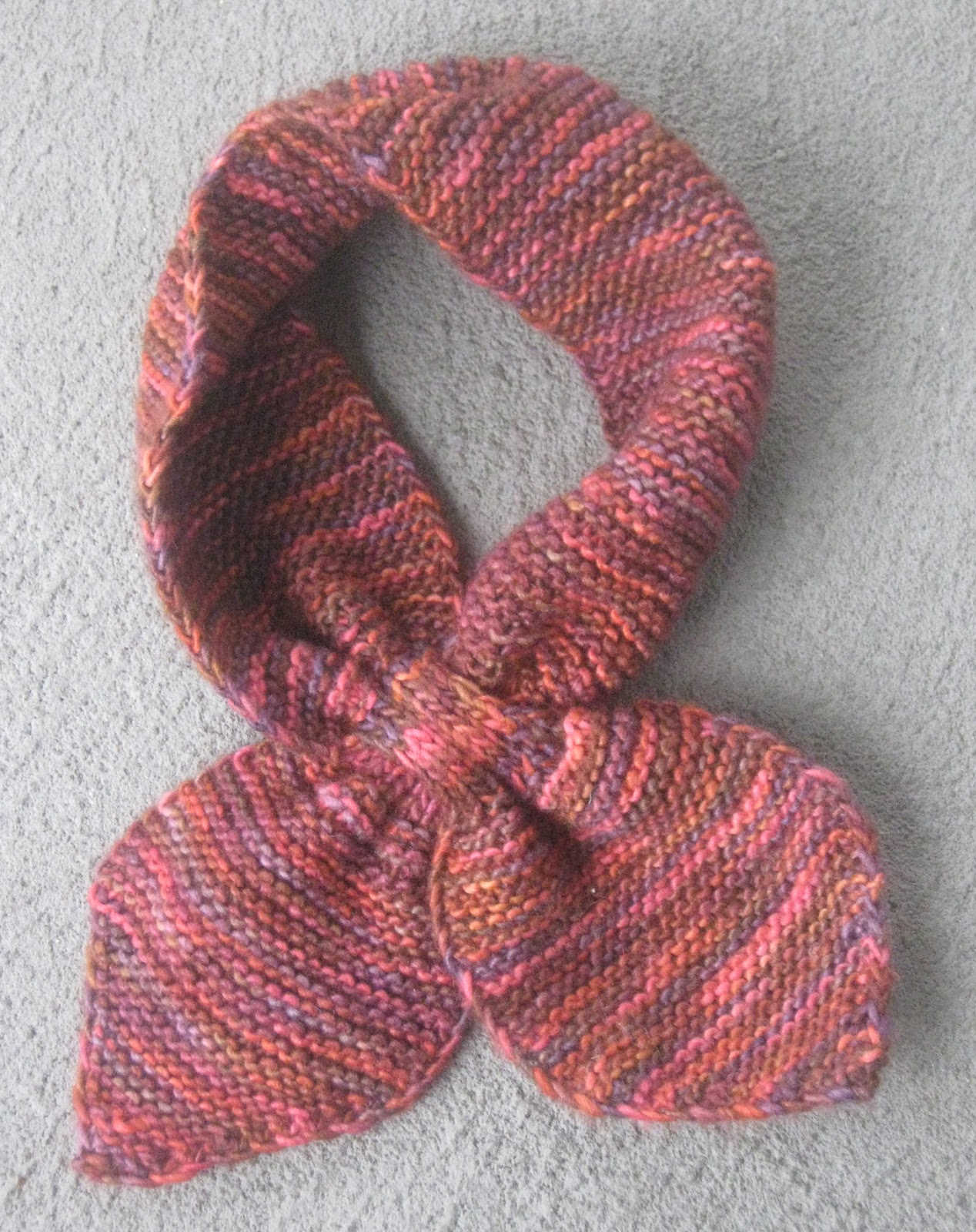 Knitting Pattern Bow Knot Scarf : Knit Bow Tie Scarf Pattern images