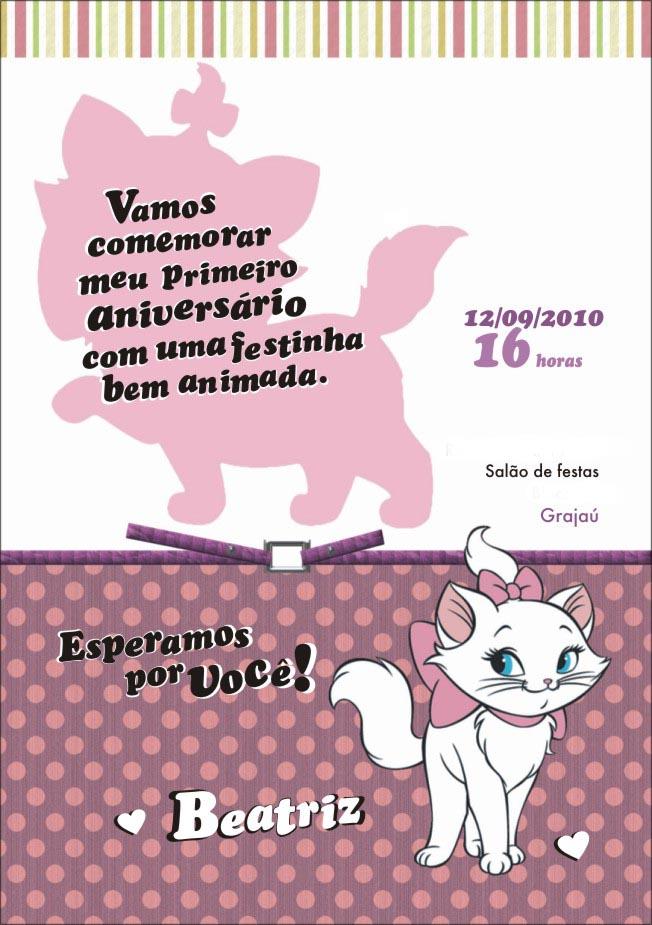 Convite Cart  O Do Anivers  Rio Da Beatriz