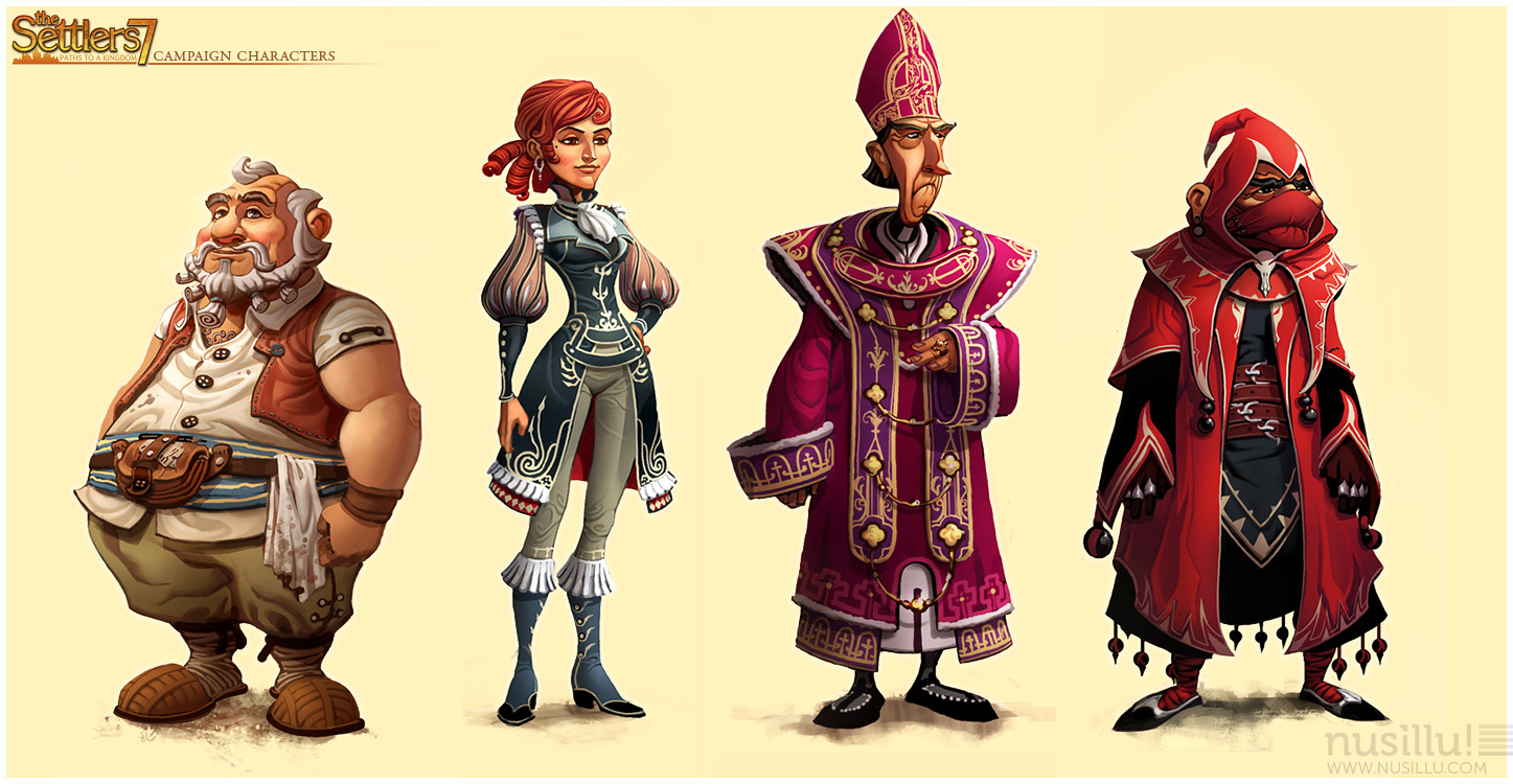 christian nauck die siedler 7 the settler 7 campaign characters. Black Bedroom Furniture Sets. Home Design Ideas