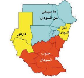 sudan map after separation