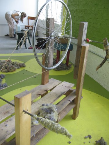 one of my Handbuilt Spinning Wheels