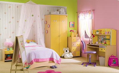 Genç kızlar için pembiş yatak odası modelleri