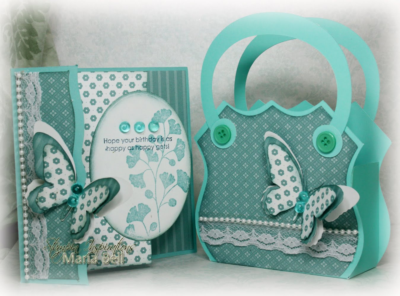 Inspired and Unscripted: Gift Sets - Decorative Edge Card and Purse ...