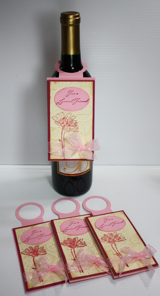 Inspired And Unscripted Wine Bottle Tag Cards Template Svg File