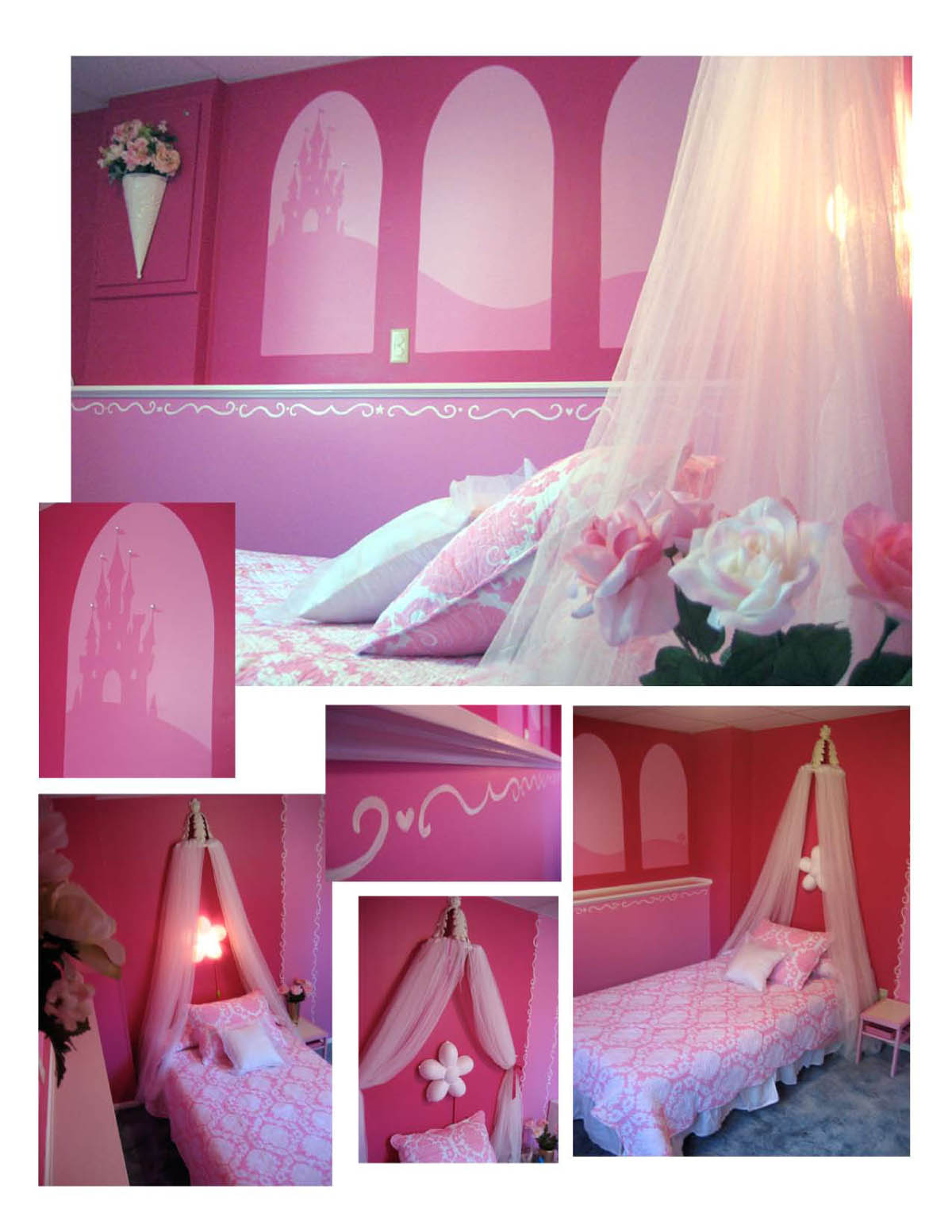 Id mommy diy princess themed bedroom by heidi panelli for Princess themed bed