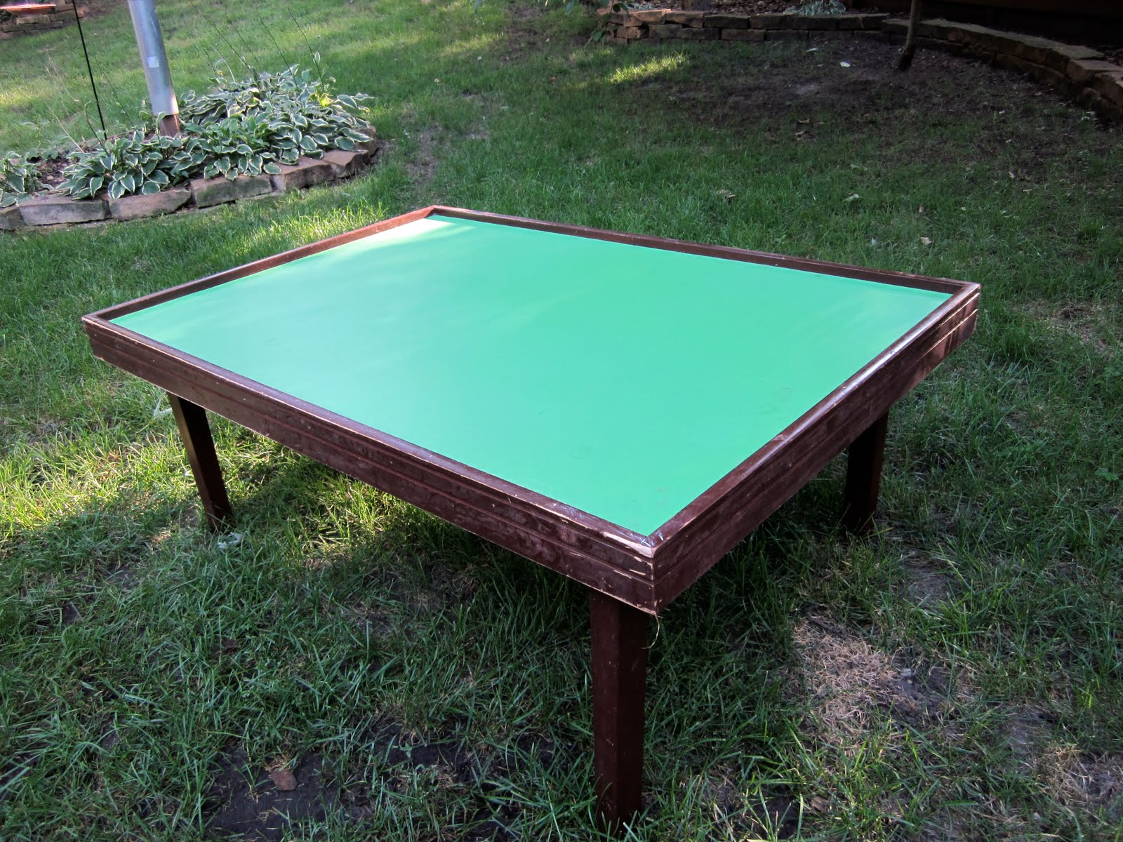 Id mommy id mommy projects make your own train table it had the best of both worlds was coffee table height train table size geotapseo Choice Image