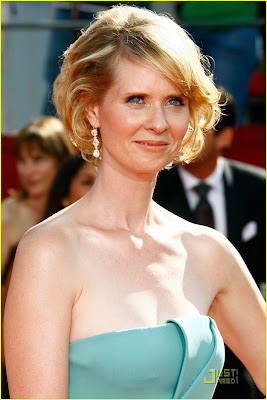 cynthia nixon emmys 2008 makeup Cynthia Nixon Goes Bald: 9 Bald But Beautiful Actresses & Stars ...
