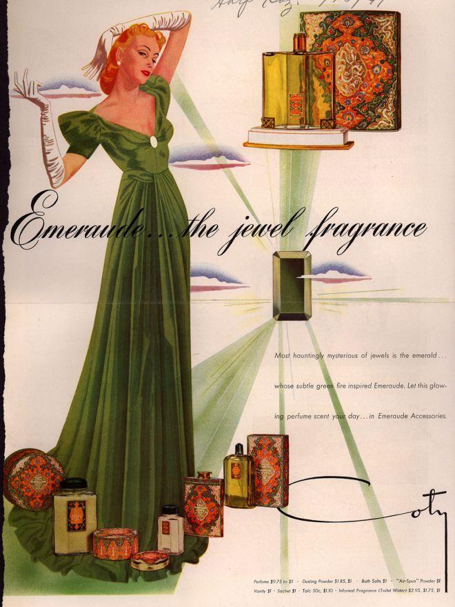 Vintage Coty Emeraude Perfume