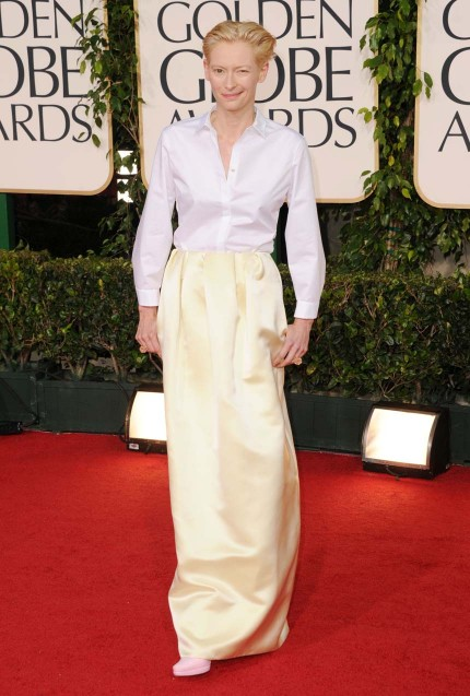 Tilda Swinton 2011 Golden Globes Tilda Swinton is the only person in the