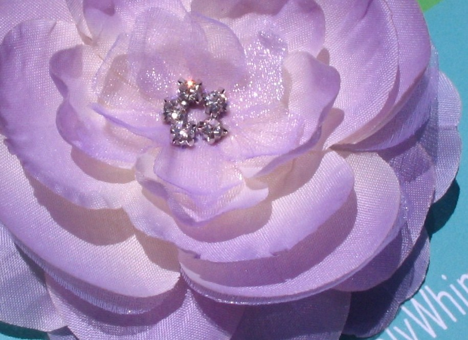 Positively whimsy motherdaughter boutique layered lilac silk small flower beautiful lilac silk flowers with sequins in the center as well as on each petal mightylinksfo