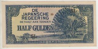 uang kuno, Indonesia,uang, koleksi,Rp, Uang Kuno,koin, mata uang, Seri,kertas, seri, Koleksi, Museum, harga,1/2 Gulden Japansche Regeering